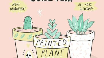 July's Mind Over Matter - Painted Plant Pots