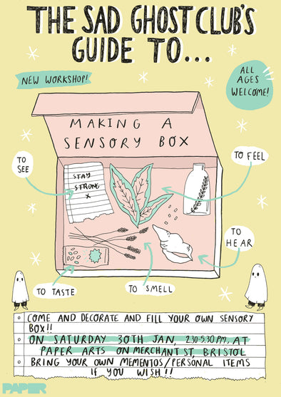 **NEW WORKSHOP** Mind Over Matter: The Sad Ghost Club's Guide to Making a Sensory Box