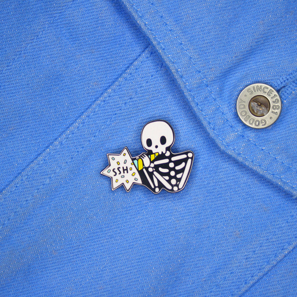 Skelly 'Ssh' - Enamel Pin