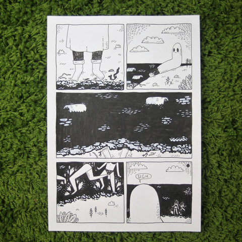 ORIGINAL - Comic Book Zine - Beach