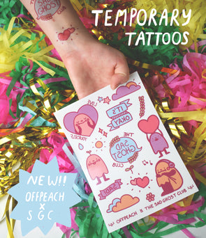 "Artist Spotlight ""Offpeach"" Temporary Tattoos"
