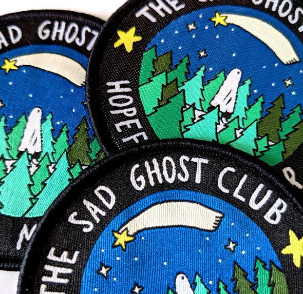 The Sad Ghost Club - Hopeful Member Embroidered Patch