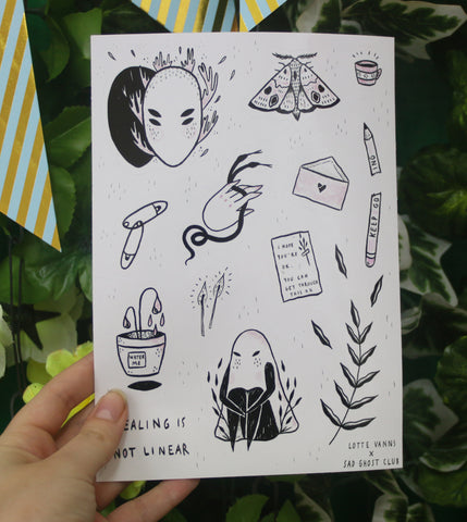 Artist Spotlight - Lotte Vanns - Sticker Sheet