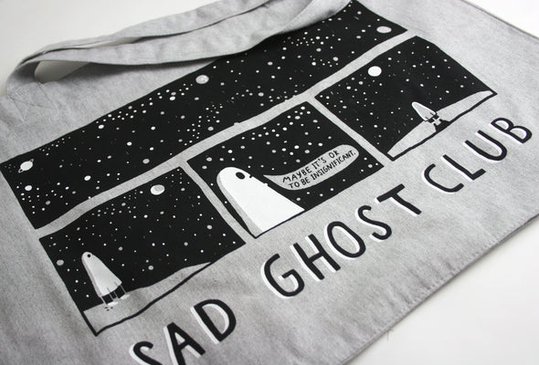 Space Thoughts - Grey Woven Shopper Bag