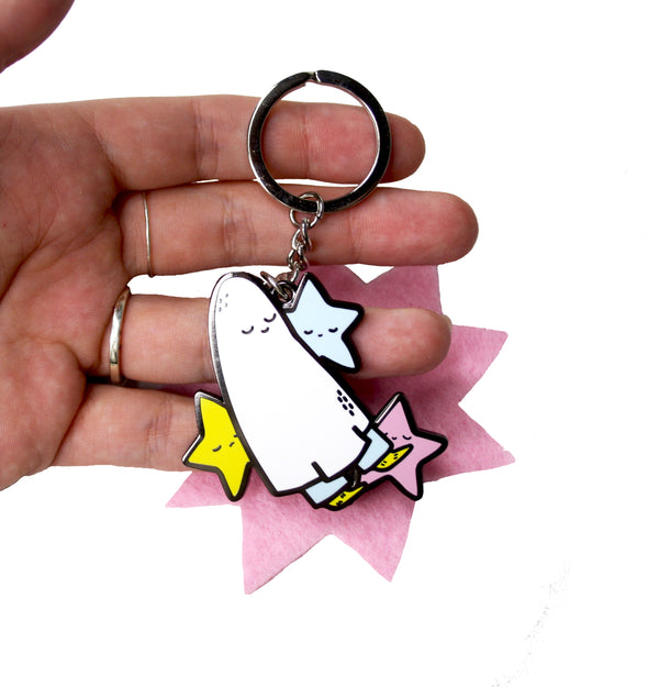 Starry Ghost Keyring