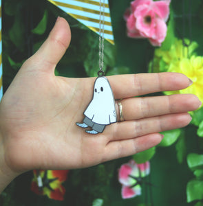 Sad Ghostie Necklace