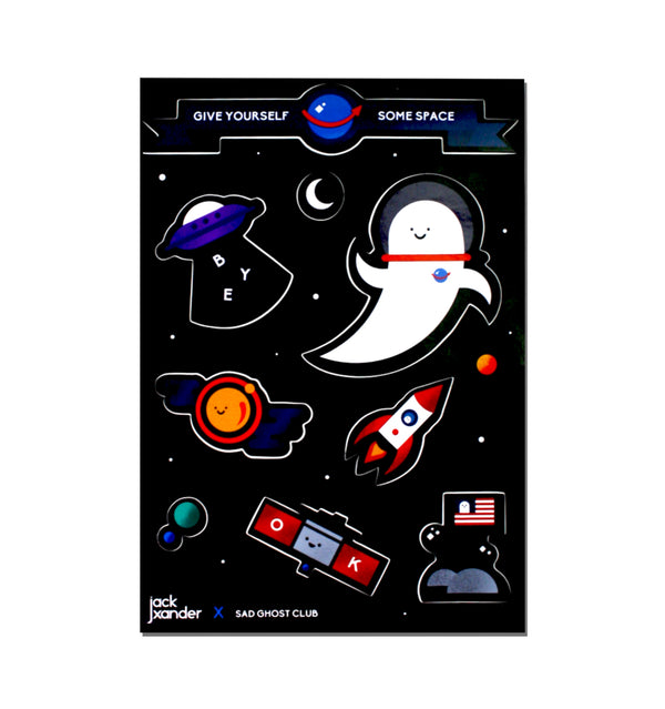 "Artist Spotlight ""Jack Xander"" Spacey Sticker Sheet"