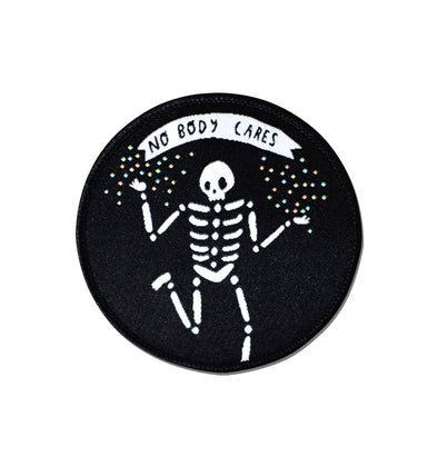 No Body Cares Embroidered Patch