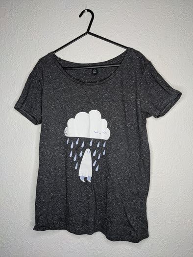 Rain Cloud Ghost Tee - Unisex Fit (Grey/Flecked)