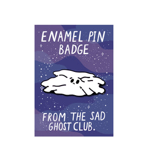 Sad Ghost Sheet Pin