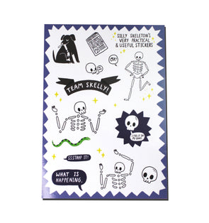 Silly Skeleton A5 Sticker Sheet