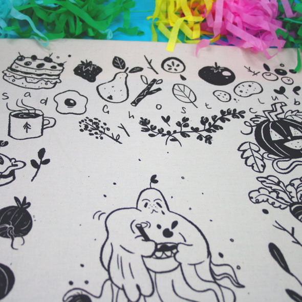Artist Spotlight 'Sophie Robin' Harvest Ghost Tea Towel