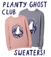 Planty Ghost Club Sweater