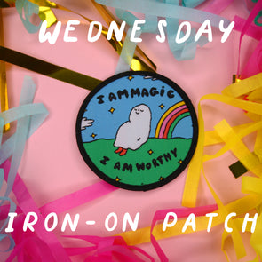 "Artist Spotlight ""Wednesday"" Iron-on Patch"