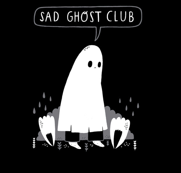 Sad Ghostie Baseball Tee
