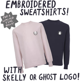 *Pre-order* Embroidered Sweatshirt - Skelly/Ghost Wreath Emblem