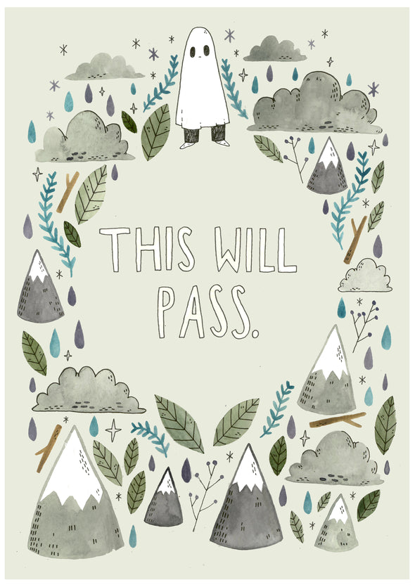 This Will Pass - A4 Giclee Print