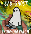 Sad Ghost Iron-on Patch