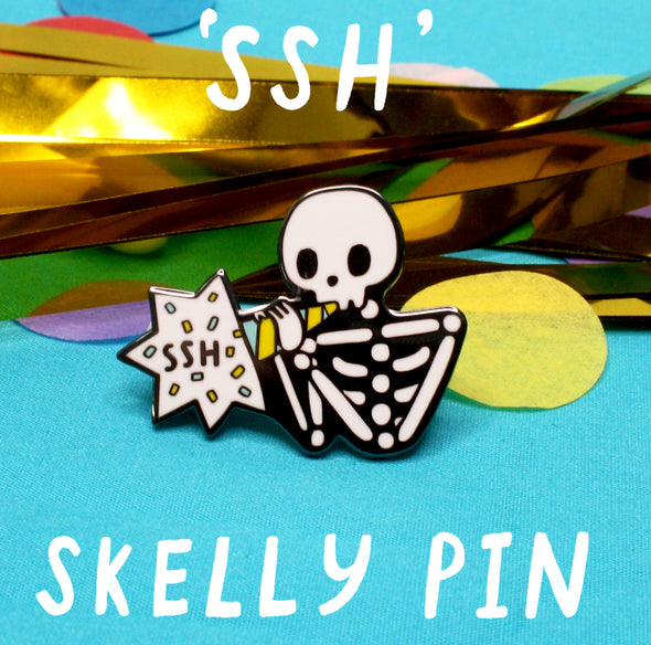 Skelly 'Ssh' Pin