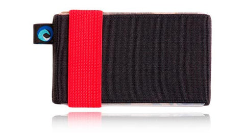 Cartera minimalista comoda y barata Hawaii Pro Black n' Red - Averday
