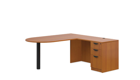 "Bullet shaped ""L"" Desk"