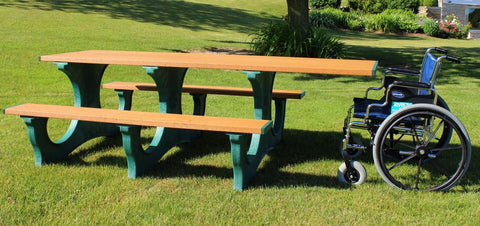Handicap Accessible Recycled Plastic Picnic Table
