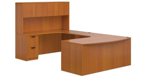 "Executive ""U"" Desk with Hutch"