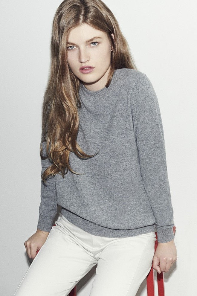 Cashmere Crewneck - Light Grey