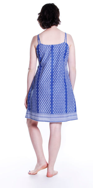 La Cera 100% Cotton Blue Chemise