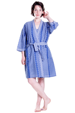 Cotton Blue Robe