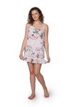 White Floral Cotton Chemise