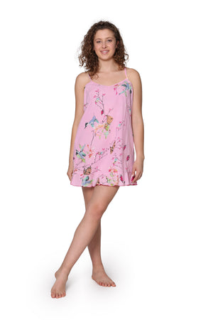 Pink Floral Cotton Chemise
