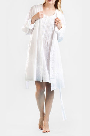 La Cera Embroidered Short Robe - La Cera™ - 1