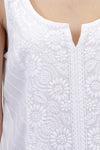 La Cera Sleeveless Floral Embroidered Chemise - La Cera™ - 2