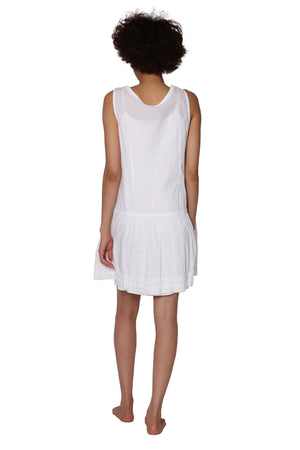 100% Cotton Sleeveless Drop Waist Cotton Chemise