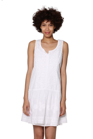 100% Cotton Sleeveless Drop Waist Chemise