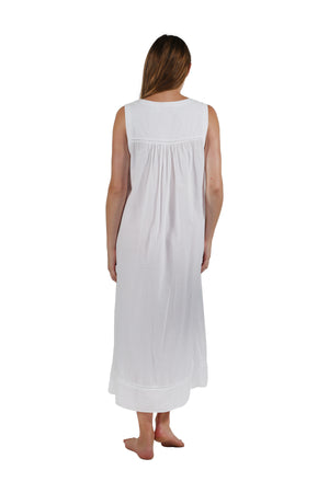 100% Cotton Sleeveless Embroidered Gown