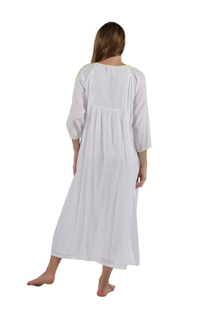 La Cera Embroidered Peasant Gown