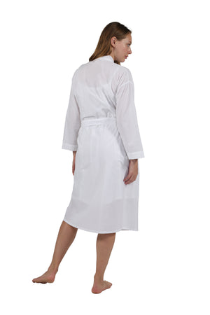 100% Cotton Embroidered Robe