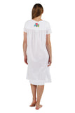 100% Cotton Cap Sleeve Embroidered Dress
