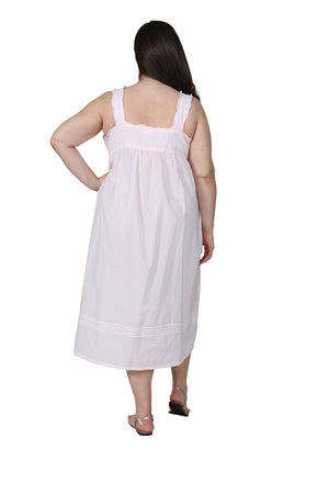 La Cera Plus Size Embroidered Sleeveless Pinafore Gown