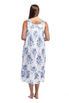 100% Cotton Lace Trim Cotton Flounce Gown