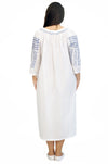 La Cera Plus Size Long Sleeve Embroidered Gown