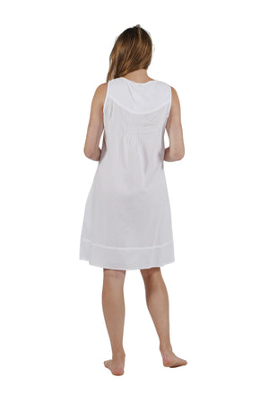 La Cera Sleeveless Smocked Chemise