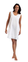 100% Cotton Embroidered Scoop Neck Chemise