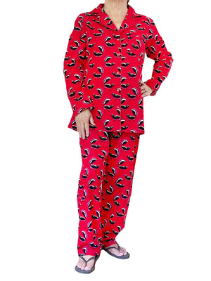 Whimsical Skunk Flannel Pajamas Set