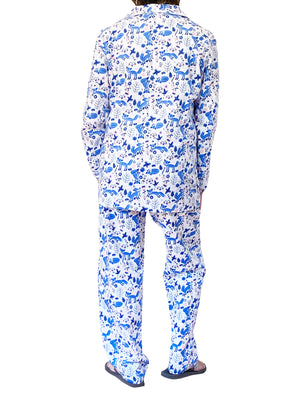 Blue Fox Flannel Pajama Set