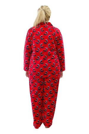 Plus Size Whimsical Skunk Flannel Pajama Set