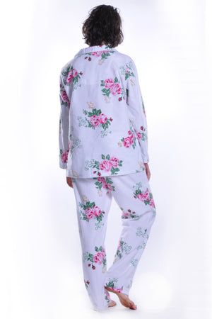 Flannel Print Pajama Set