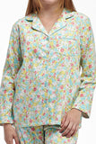 La Cera Long Sleeve Floral Flannel Pajama Set - La Cera™ - 2